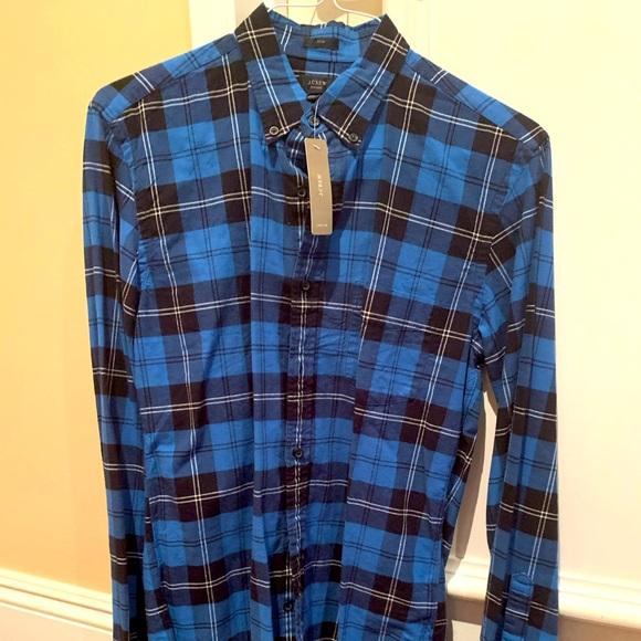 BRAND NEW J. Crew Plaid Shirt - Flannel Style Men's - Medium